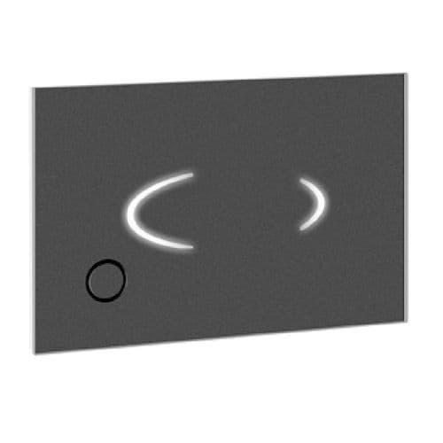 Abacus Easi-Plan Auto Electronic Press Panel Flush Plate - Black