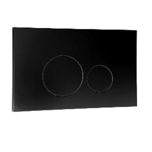 Abacus Easi-Plan Iso 2 Dual Flush Plate - Black