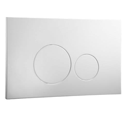 Abacus Easi-Plan Iso 2 Dual Flush Plate - Satin