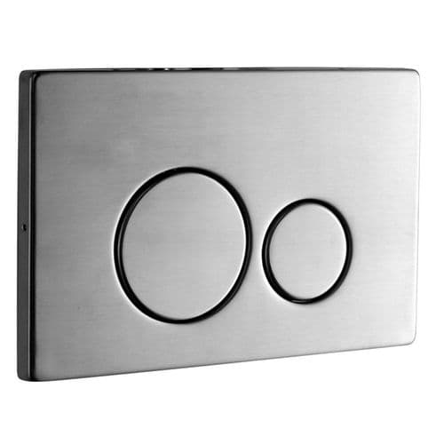 Abacus Easi-Plan Iso 2S Dual Flush Plate - Brushed Stainless Steel