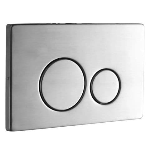 Abacus Easi-Plan Iso 2S Dual Flush Plate - Polished Stainless Steel