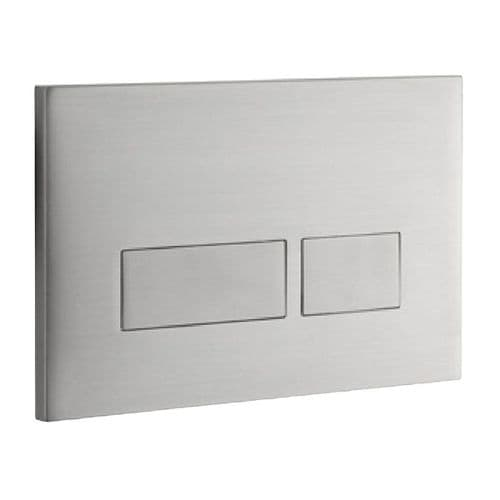 Abacus Easi-Plan Trend 2S Dual Flush Plate - Brushed Stainless Steel