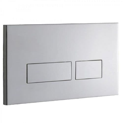 Abacus Easi-Plan Trend 2S Dual Flush Plate - Polished Stainless Steel