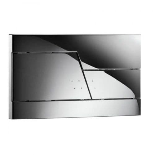 Abacus Easi-Plan Zone Dual Flush Plate - Chrome