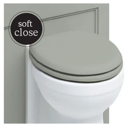 Burlington Chrome Soft Close Classic Grey Toilet Seat S46