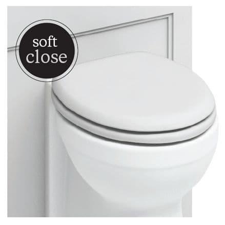Burlington Chrome Soft Close Matt White Toilet Seat S45