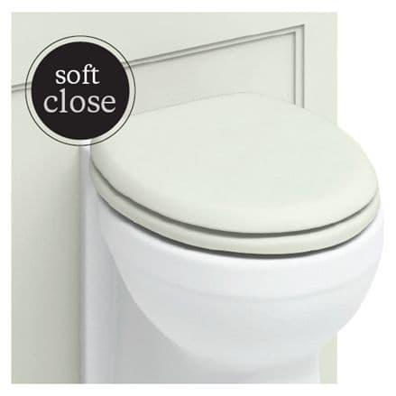 Burlington Chrome Soft Close Sand Toilet Seat S43