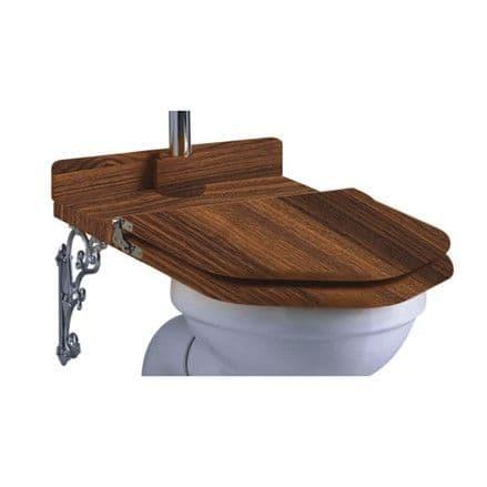 Burlington Wooden Walnut Throne Toilet Seat S52