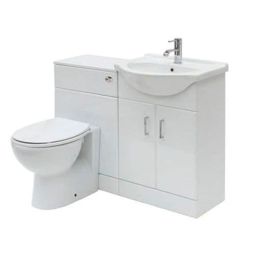 Floe 1050mm Cabinet Cloakroom Suite (San Diego BTW Pan)