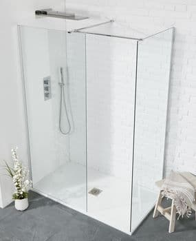Frontline Aquaglass+ 8mm Sq Walk-In Front Panel - Various Sizes