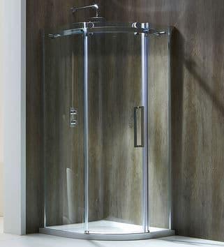 Frontline Aquaglass+ Frameless 8mm 1 Door Quadrant And Offset Enclosure - Various Sizes