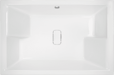 Amare Twin Tub Double Ended Bath - 1800mm x 1200mm - White