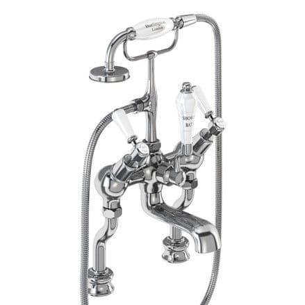 Burlington Kensington Regent Angled Bath Shower Mixer Deck Mounted  KER19-QT