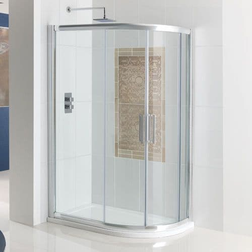 Corniche Offset Quadrant Double Door Shower Enclosure - Various Sizes