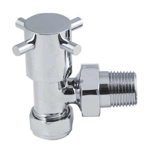 Crosshead Chrome Angled Radiator Valves (Pair)