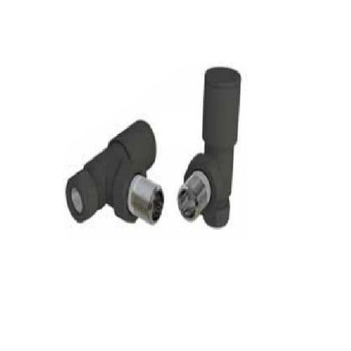 Eastbrook Angled Radiator Valve - Pair - Matt Black