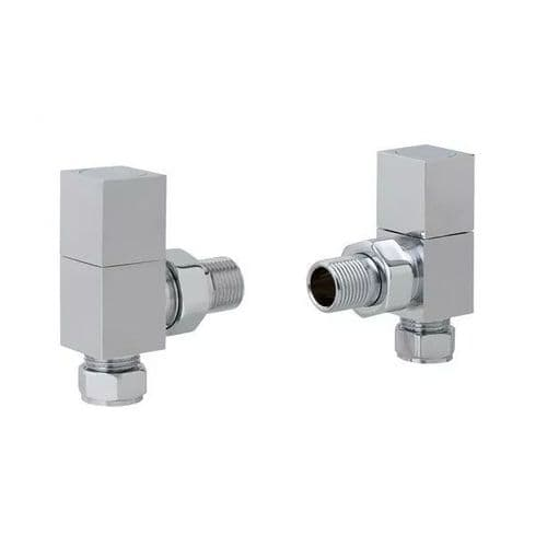 Eastbrook Angled Square Radiator Valve - Chrome