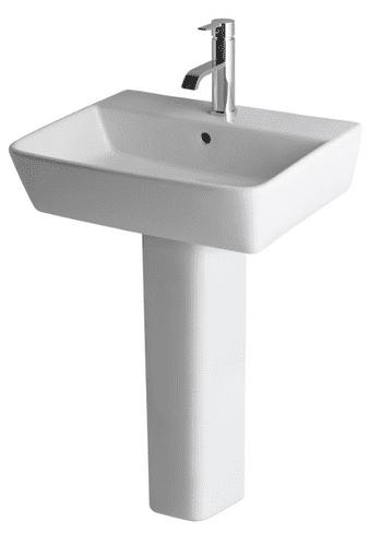 Eastbrook Bijou 500mm Basin & Full Pedestal 1 or 2 Tap Holes