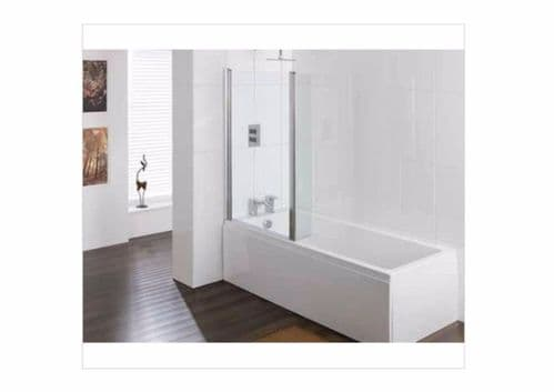 Eastbrook Quantum Bath Screen With Two Hinged Panels, 1400 x 810 x 80mm