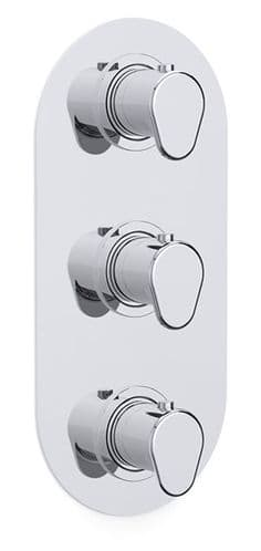 Enzo Concealed 3 Handle Thermostatic Shower Dual Outlet