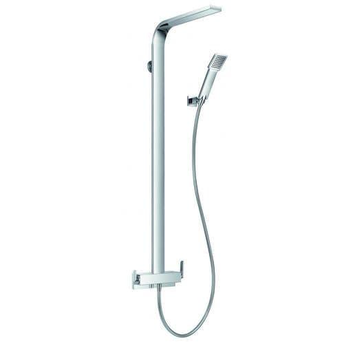 Flova Cascade Shower Column, Manual Mixer OverHead Shower Handset, Hose