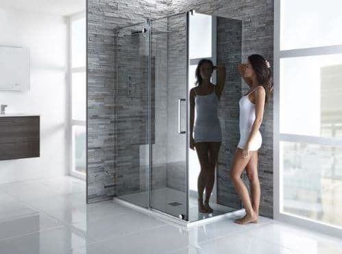 Frontline Aquaglass+ Glide 10mm Clear or Mirror Sliding Door - Various Sizes