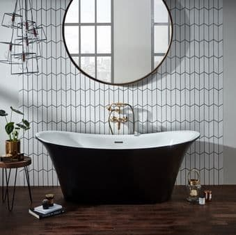 Frontline Bow 1800 x 800mm Graphite Traditional Freestanding Bath