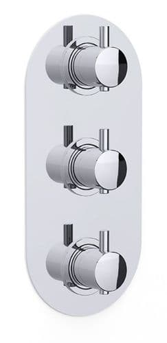 Kiko Concealed 3 Handle Thermostatic Shower Dual Outlet