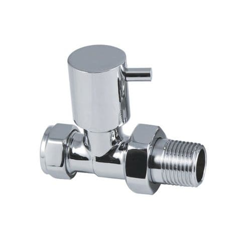 Lever Chrome Straight Radiator Valves (Pair)
