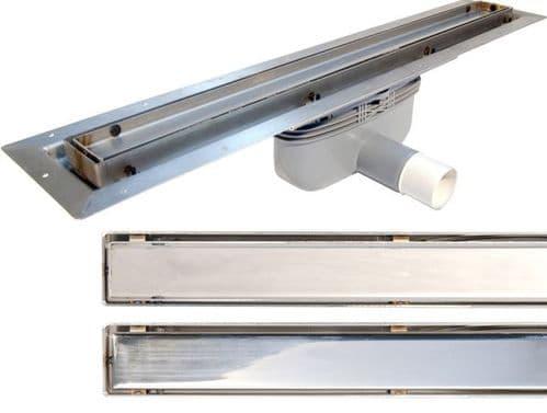 Linke Line Linear Drains for Tiled Floors, Various Sizes