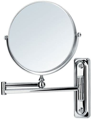Pura Flova Floral Adjustable Shaving Mirror, Chrome