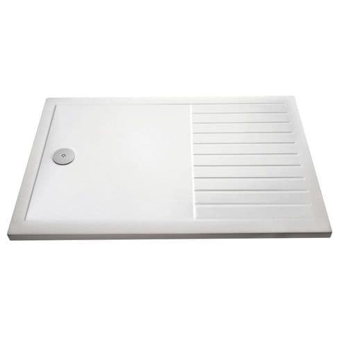 Rectangular 1400mm x 900mm Walk-In Shower Tray With Drying Area