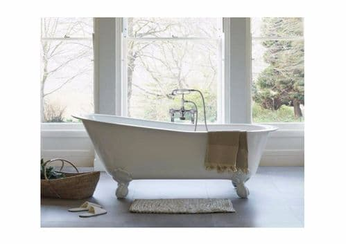 Romano Petite Clearwater Bath, Clear Stone, 1524 x 750mm With Optional Feet