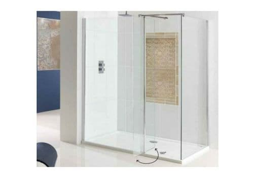 Vantage Flipper Walk in Shower Screen, Easy Clean,Optional Front & End Panels