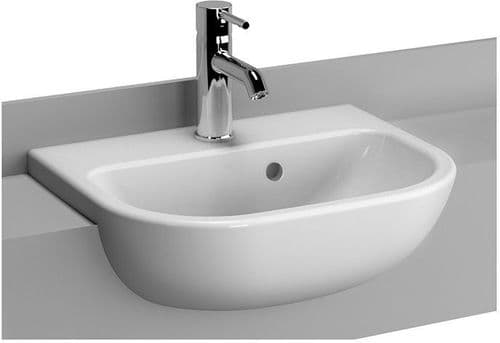 Vitra S20 Semi Recessed Basin 1 Tap Hole - Various Sizes