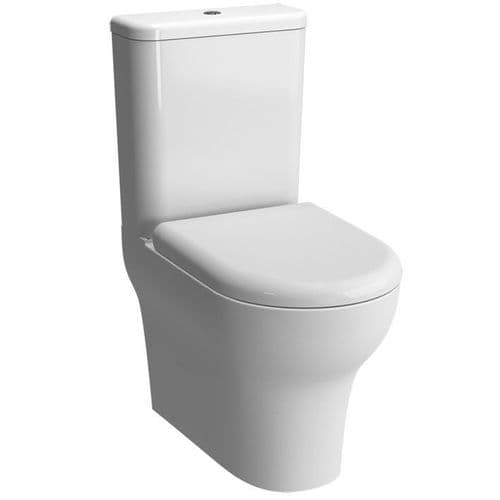 Vitra Zentrum Close Coupled Toilet Pan, Cistern & Soft Close Seat (Open Back)