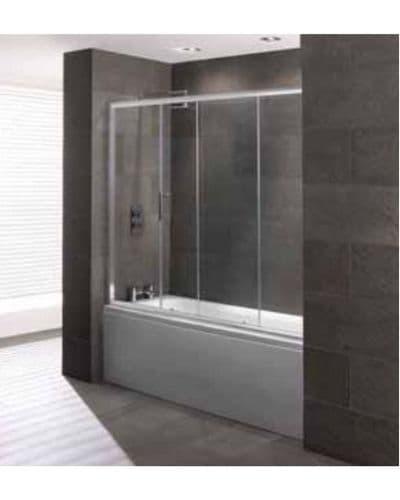 Volente 1700mm Over Bath Slider, Easy Clean 6mm Glass, Optional Over Bath End Panel