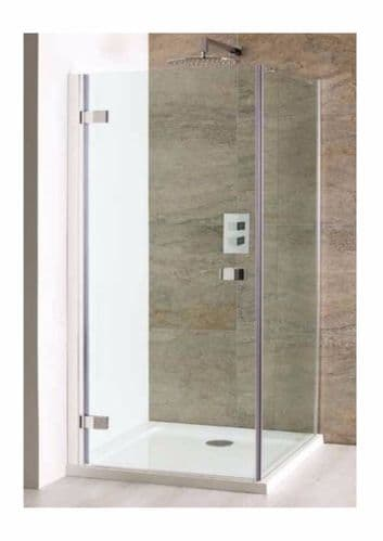 Volente Frameless 1000mm Shower Door & Optional Volente Glass Side Panel 58.815