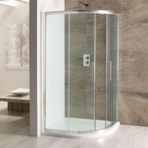 Volente Offset Quadrant Double Door Shower Enclosure - Various Sizes