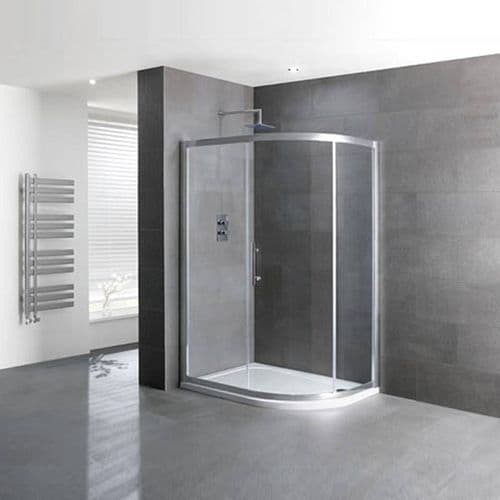 Volente Offset Quadrant Single Door Shower Enclosure - Various Sizes