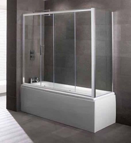 Volente Over Bath Slider 1800mm, Easy Clean 6mm Glass, Optional End Panel