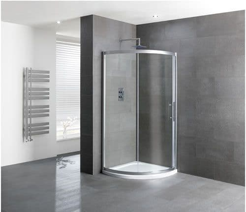 Volente Quadrant Single Door Shower Enclosure Inc Tray & Waste - Various Sizes