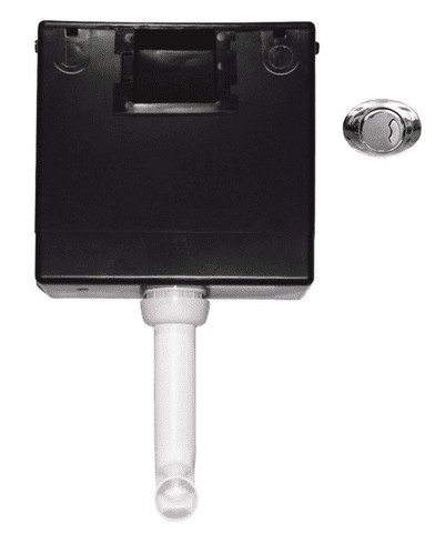 Wirquin Concealed Cistern (Side Inlet) inc Chrome Push Button
