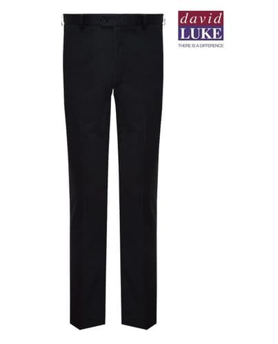 Black David Luke Boys Slim Leg Trouser