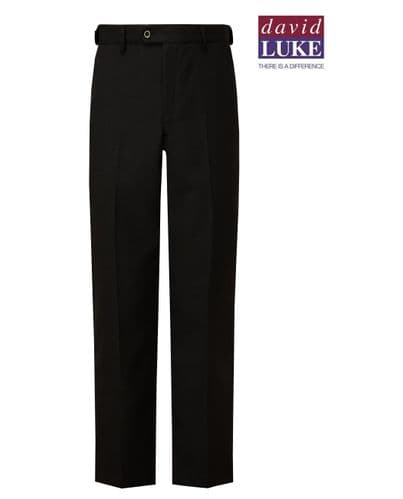 Black Sturdy Fit Boys Flat Front Trouser