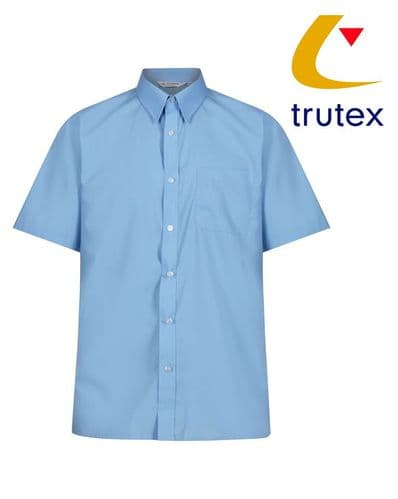 Blue Twin Pack Short Sleeve Non-Iron Shirt