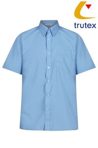 Boys Blue Twin Pack Short Sleeve Shirts