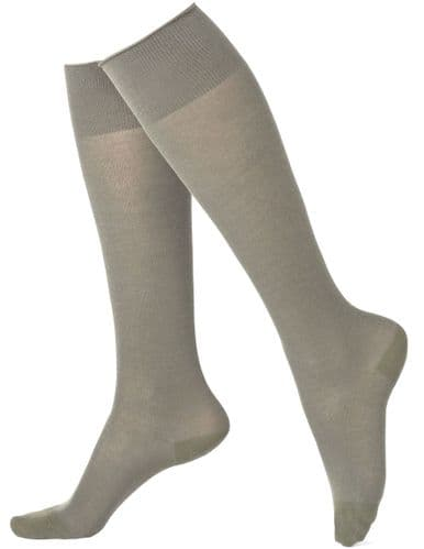Girls 3 Pack Grey Knee High Socks