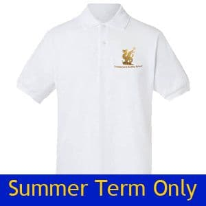 The Thomas, Lord Audley School White Summer Polo Shirt