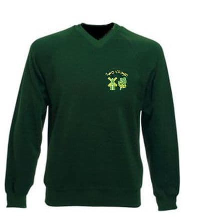 Two Village Primary V-Neck Sweatshirt